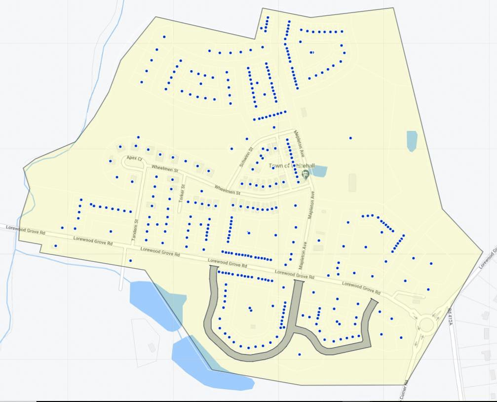 Town of Whitehall Map