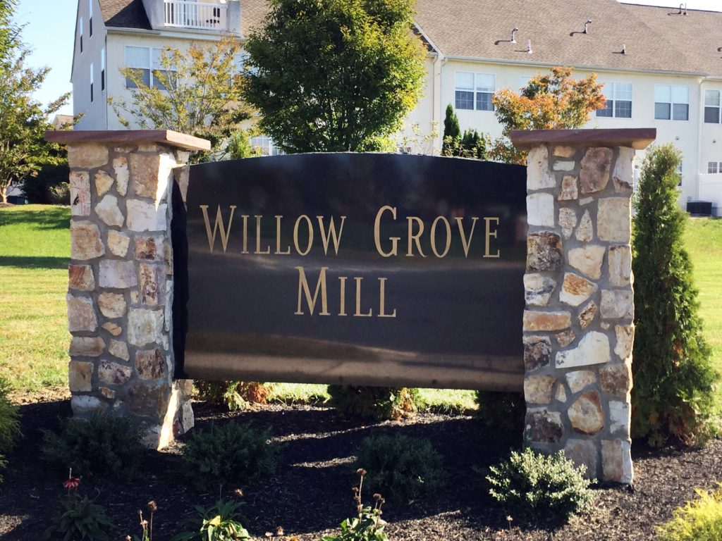 Willow Grove Mill Entry Sign