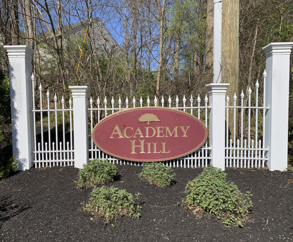 Academy Hill Entry Sign