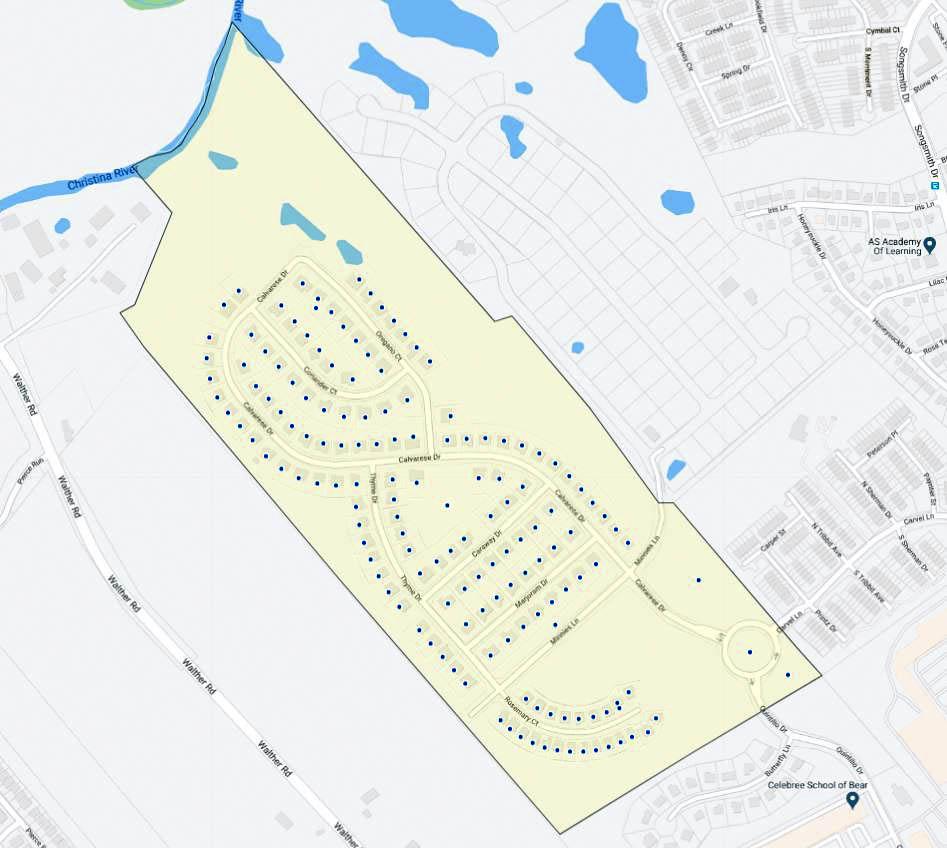 Calvarese Farms Map