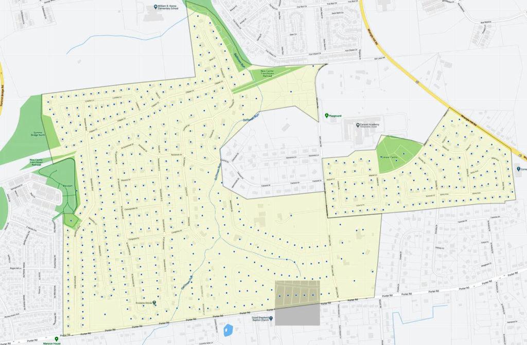 Caravel Farms Map