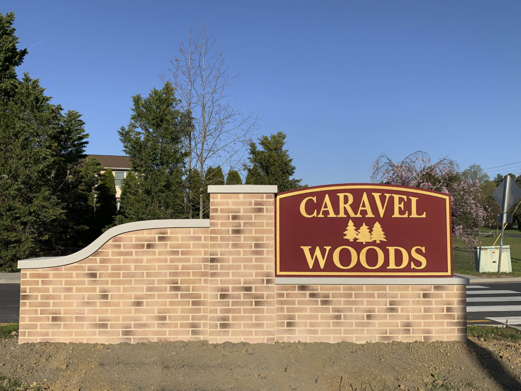 Caravel Woods Entry Sign