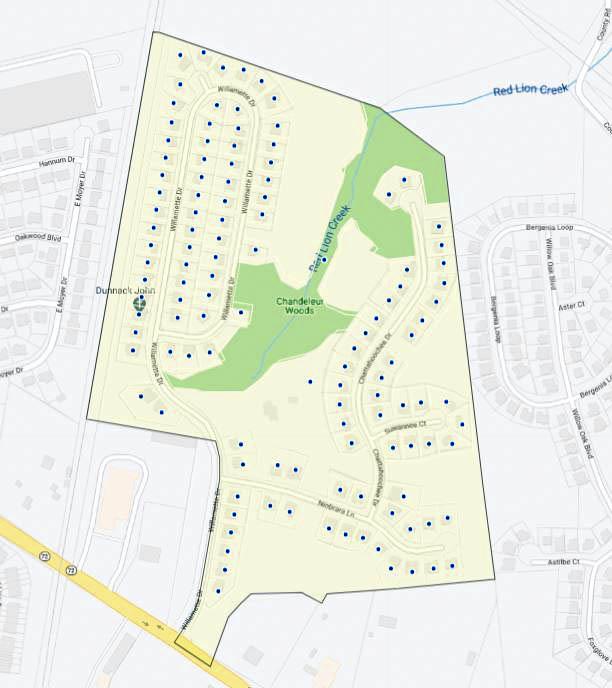 Chandeleur Woods Map