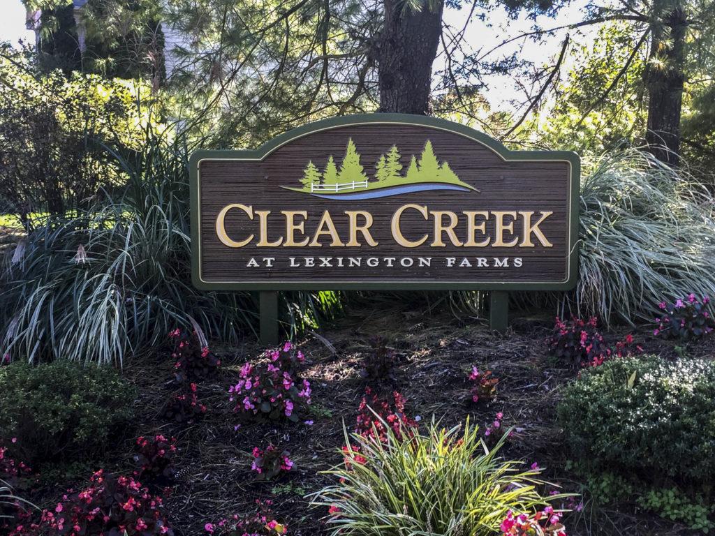 Clear Creek at Lexington Farms Entry Sign