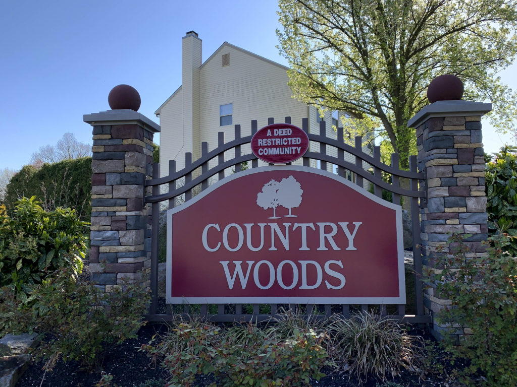 Country Woods Entry Sign