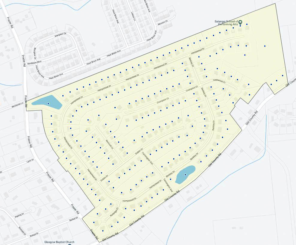 Estates at Farmington Map