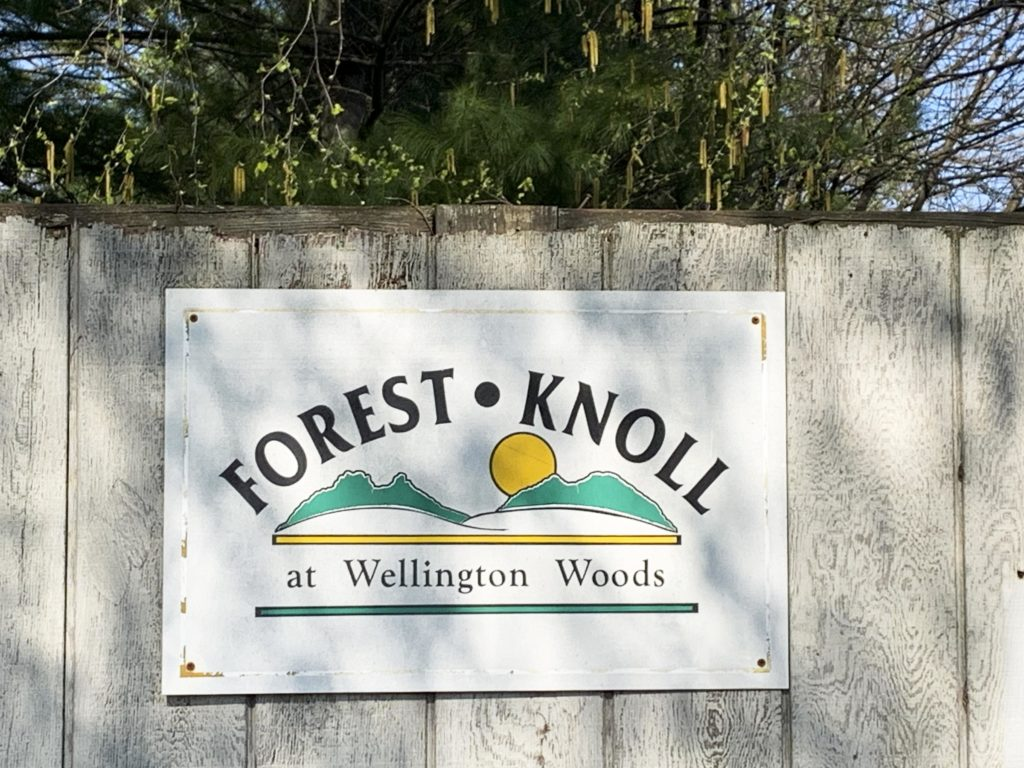 Forest Knoll Entry Sign