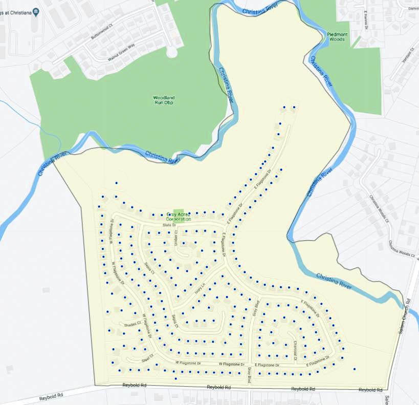 Gray Acres Map