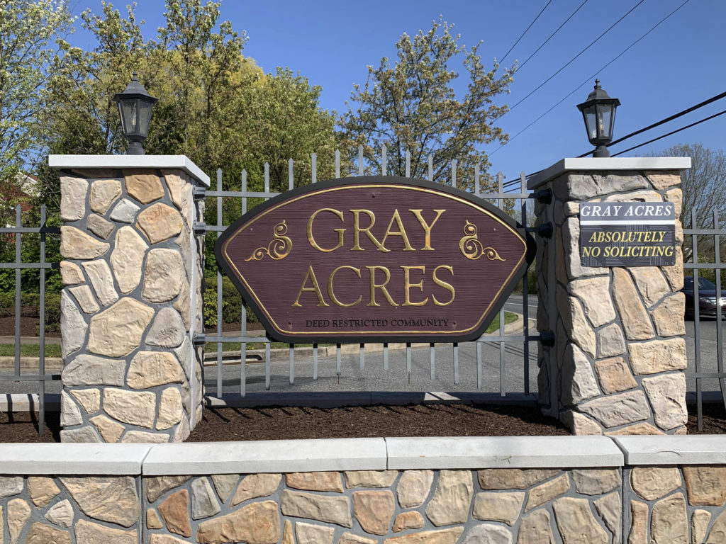 Gray Acres Entry Sign