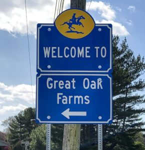 Great Oak Farms Entry Sign