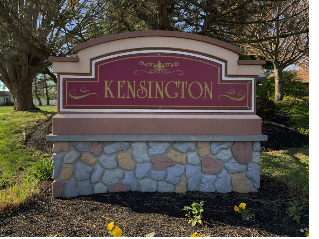 Kensington Entry Sign