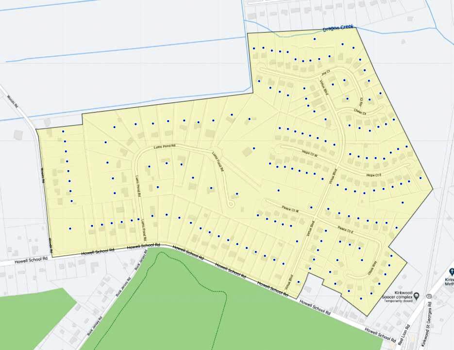 Lums Pond Estates Map