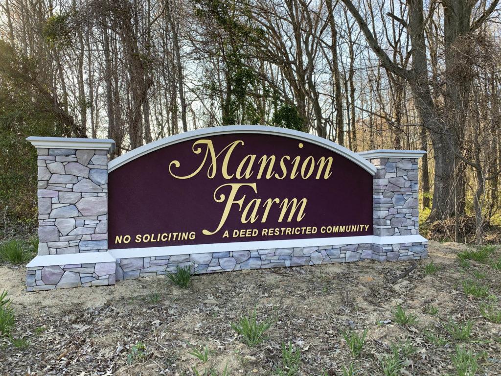 Mansion Farm Entry Sign