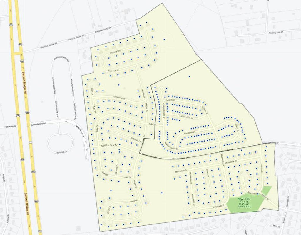 Mansion Farms Map