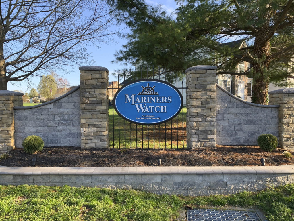 Mariners Watch Entry Sign