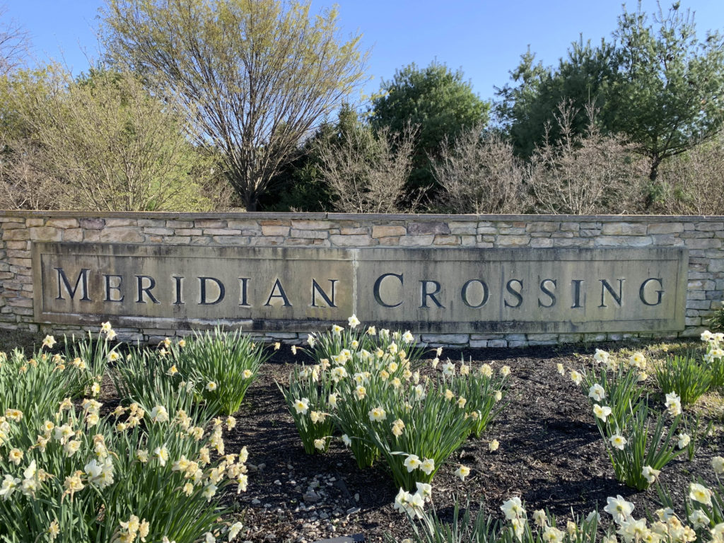 Meridian Crossing Entry Sign