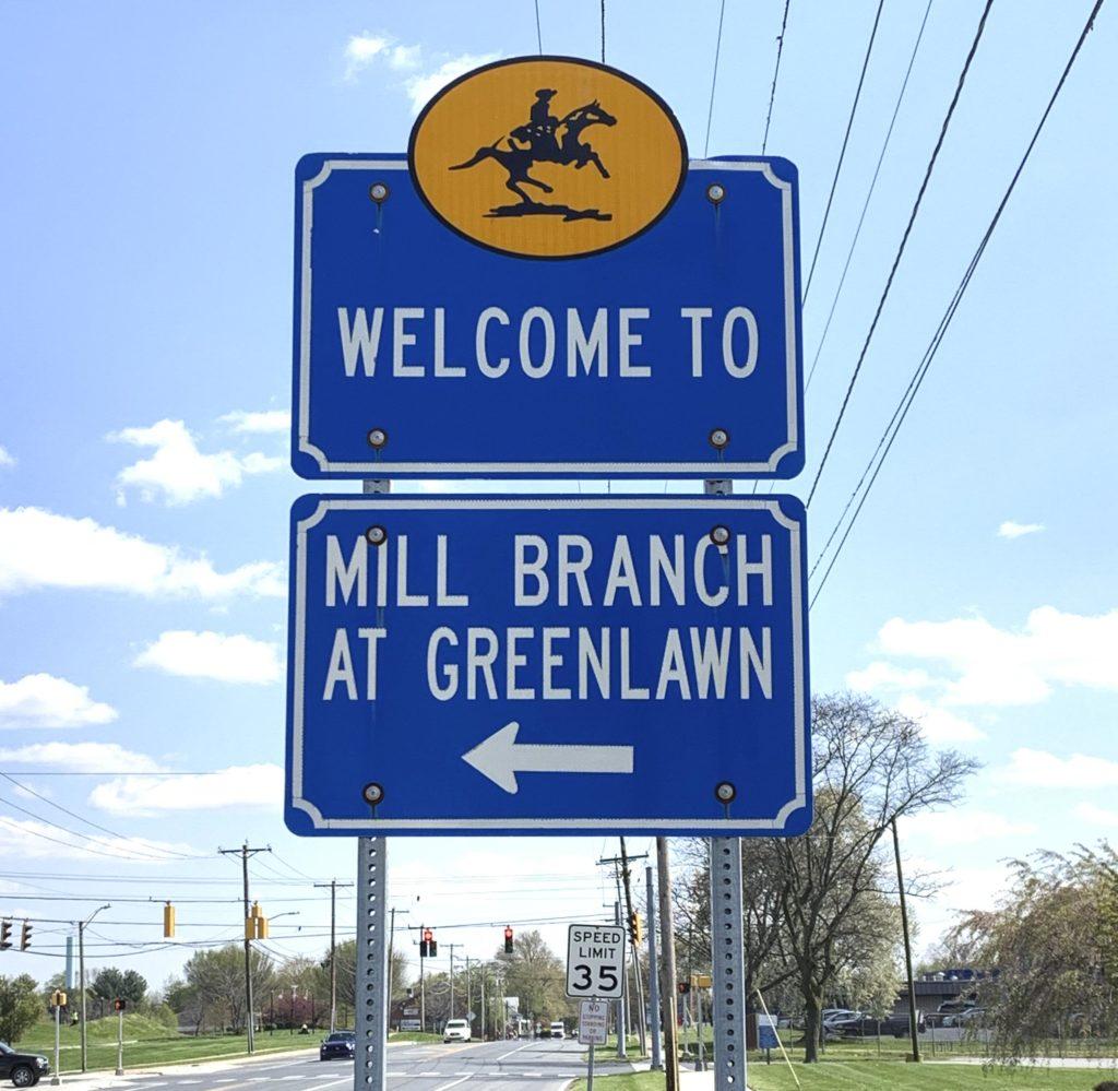 Millbranch at Greenlawn Entry Sign