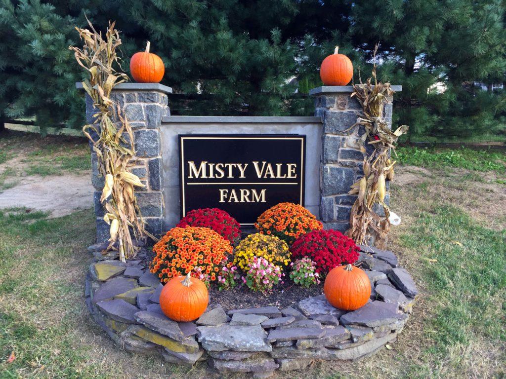 Misty Vale Farm Entry Sign