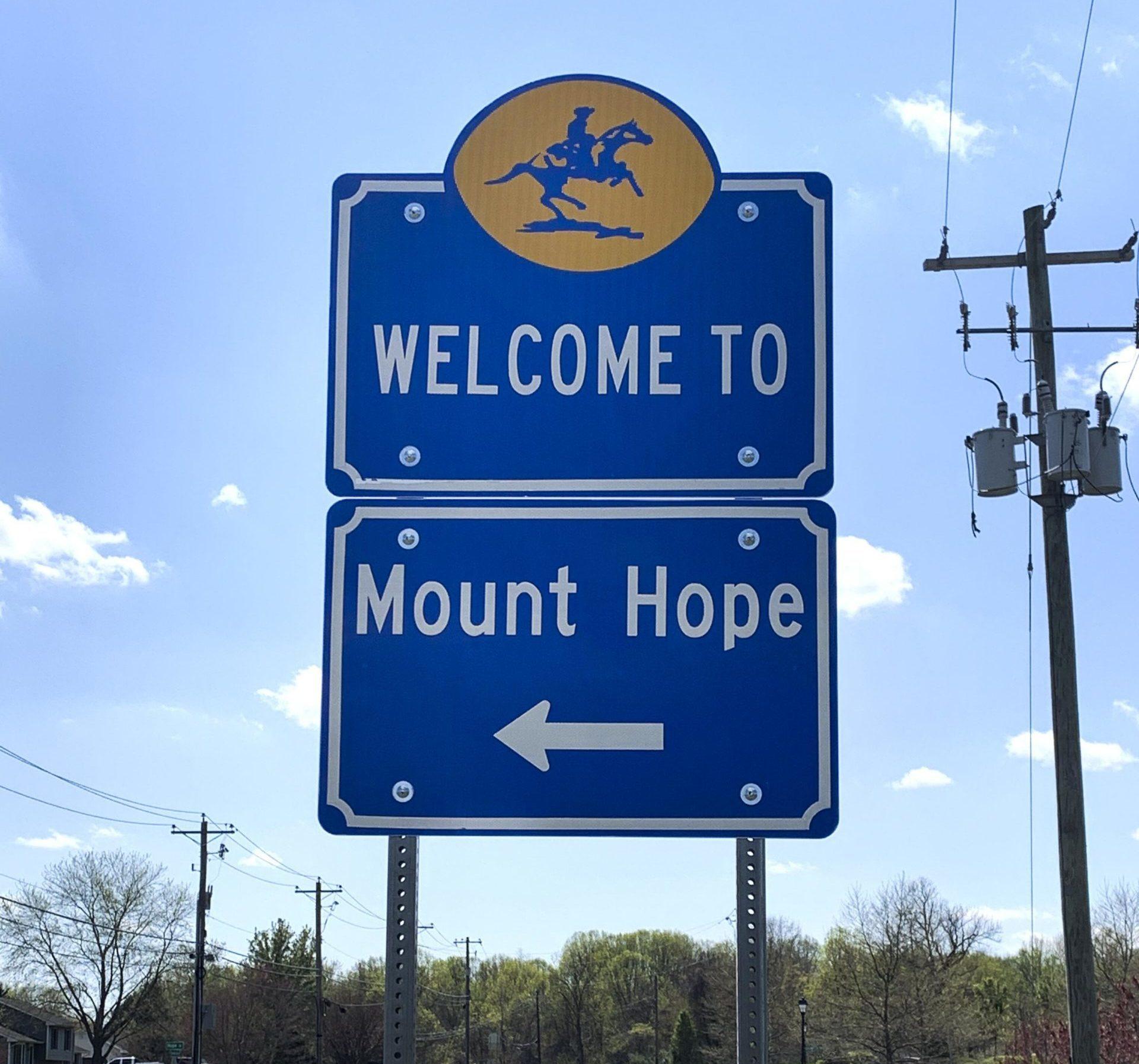 Mount Hope Entry Sign