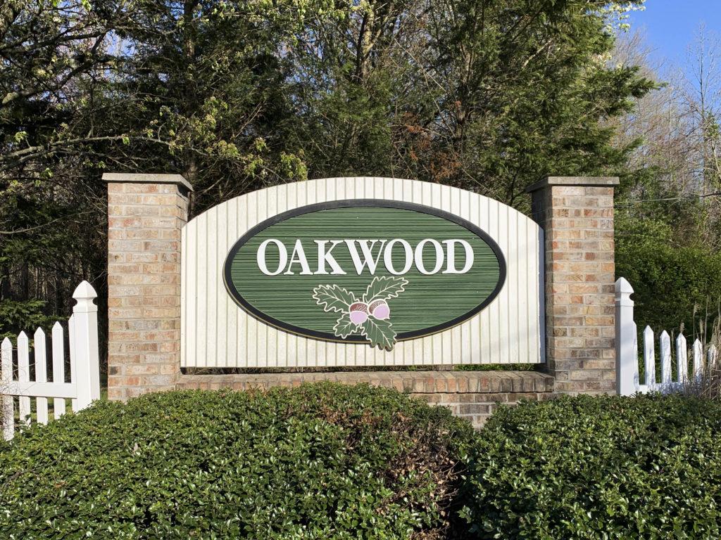 Oakwood Entry Sign