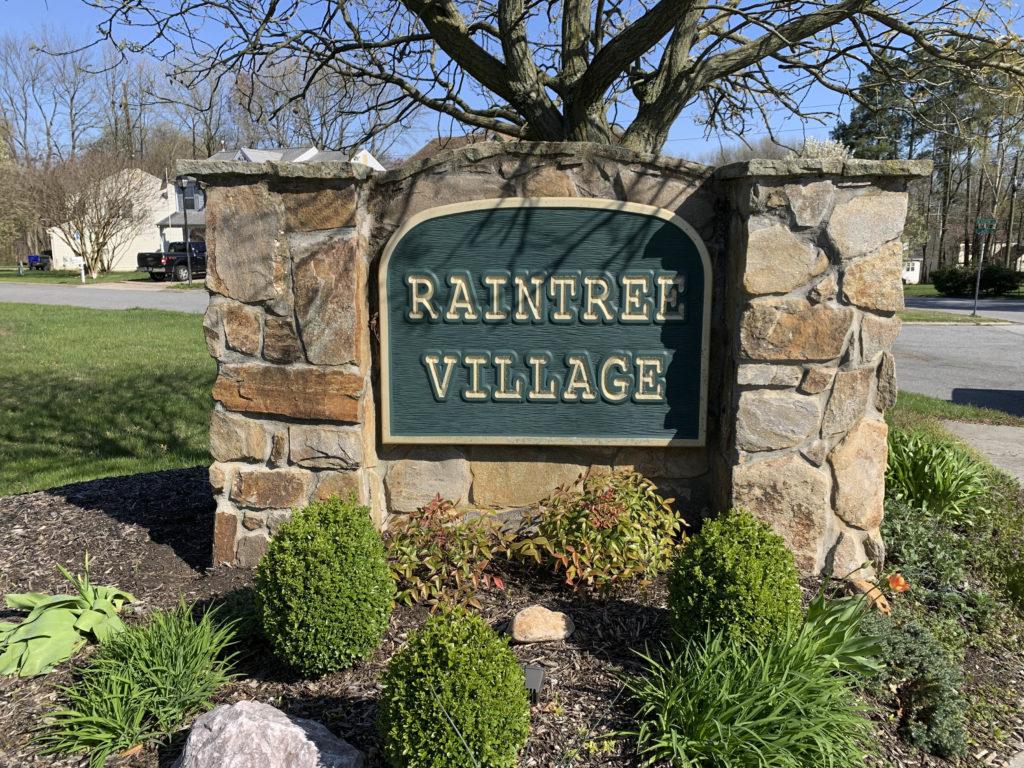 Raintree Village Entry Sign