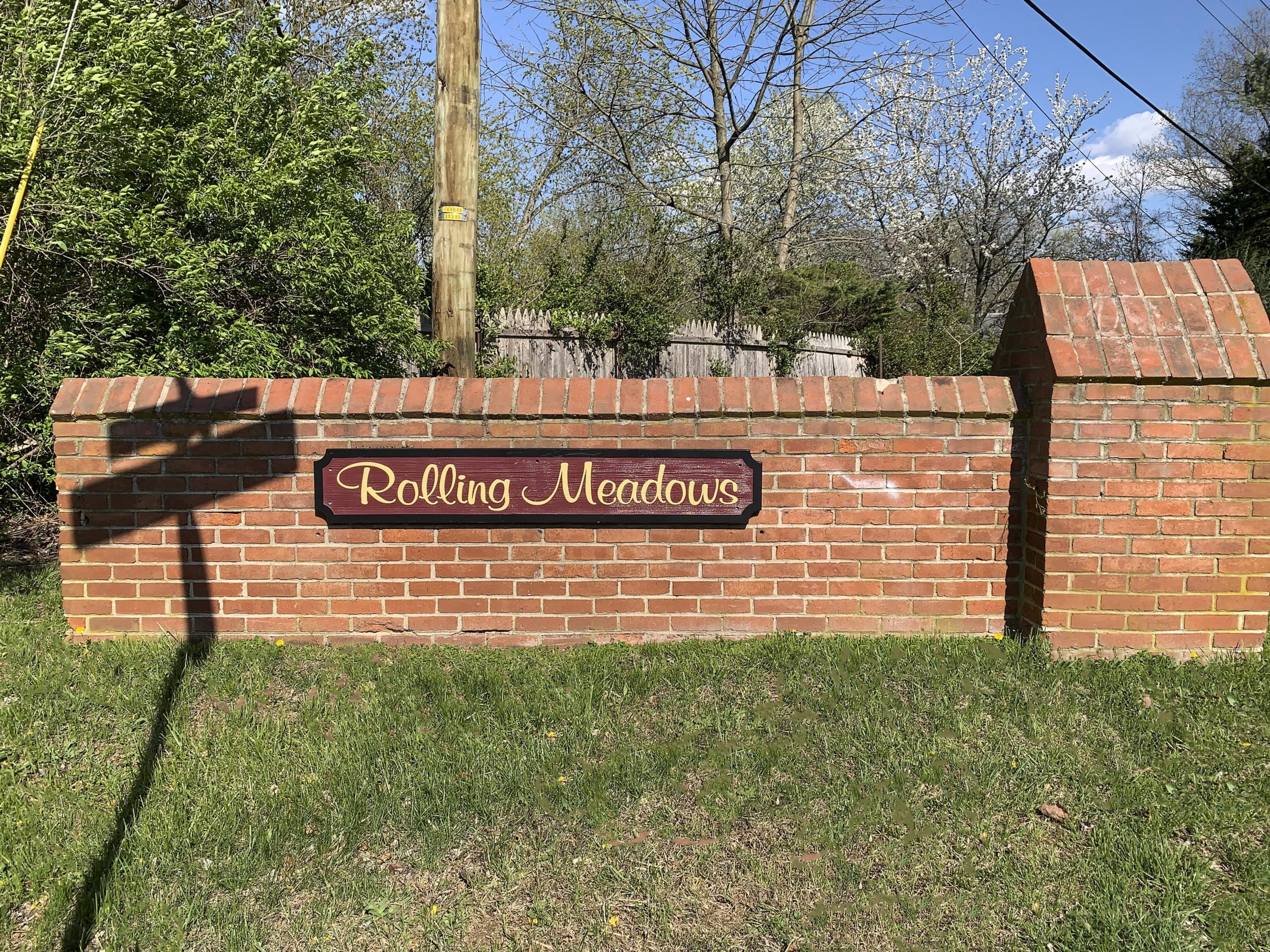 Rolling Meadows Entry Sign