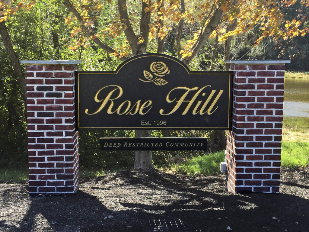Rose Hill at Lexington Farms Entry Sign