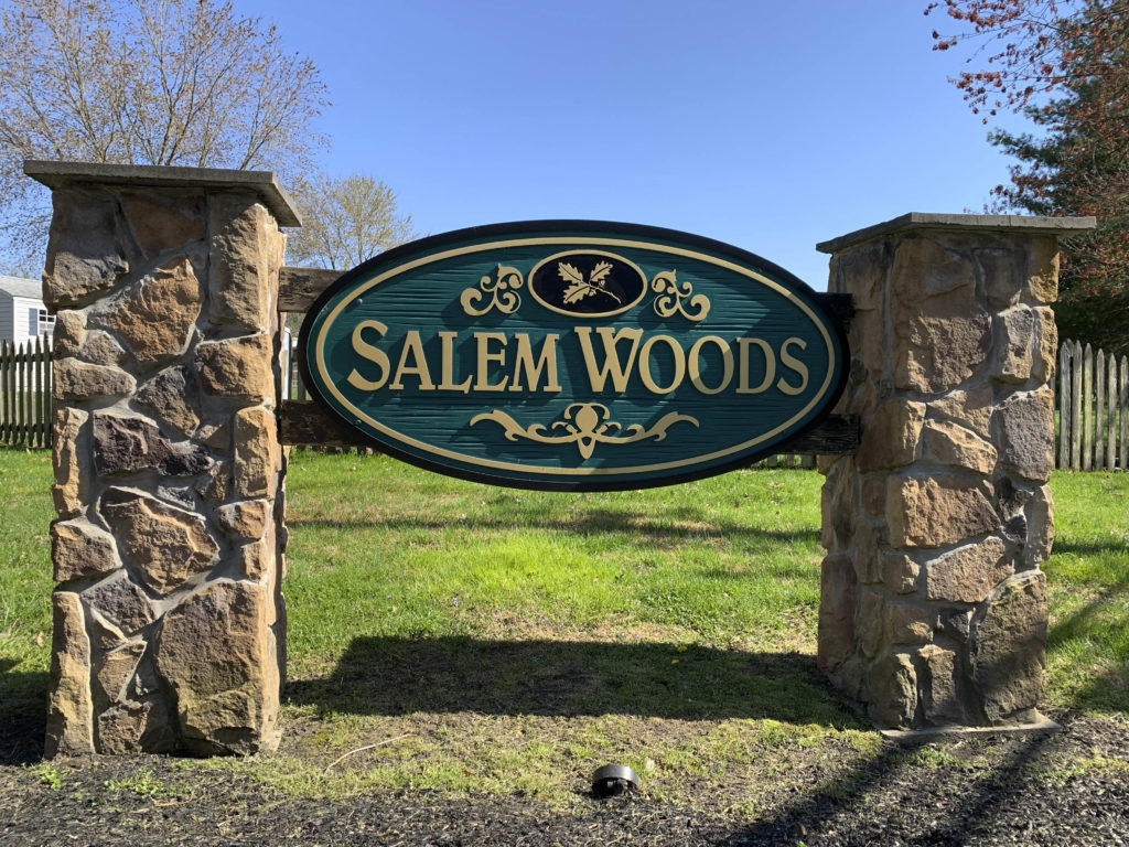 Salem Woods Entry Sign