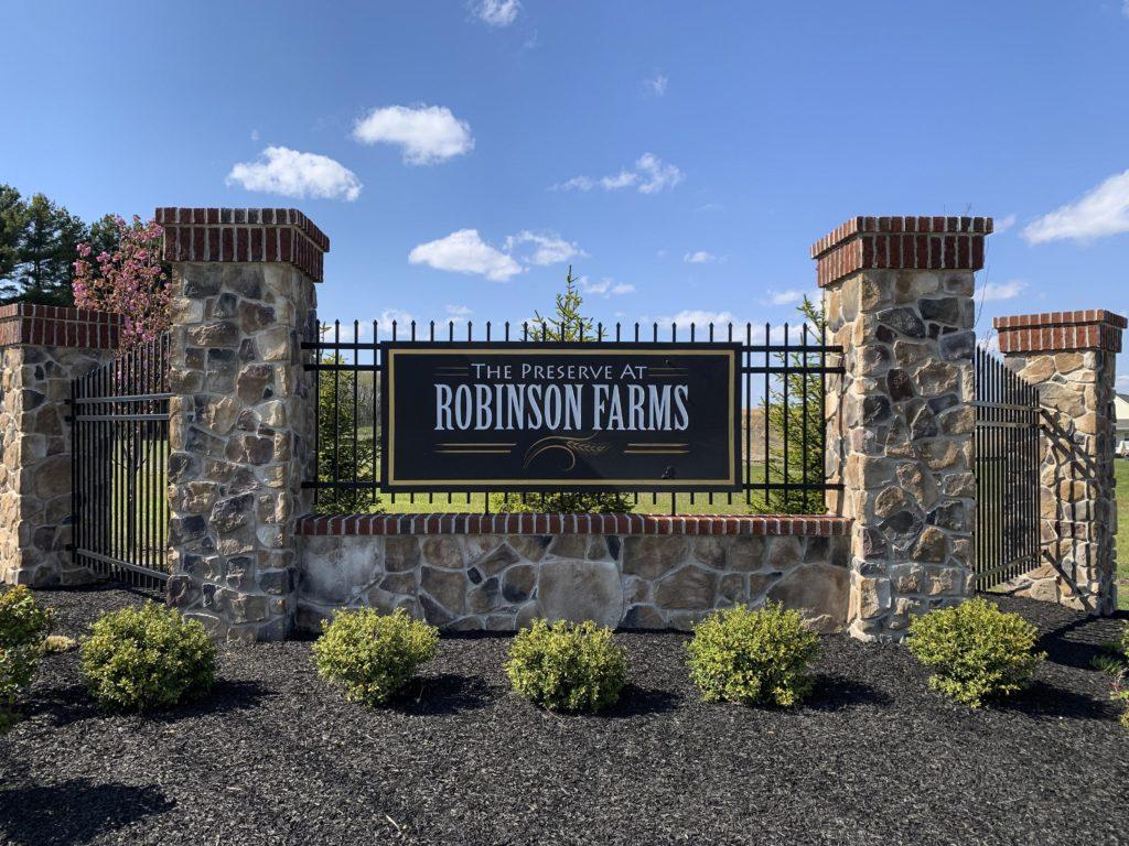 The Preserve at Robinson Farms - Villas Entry Sign