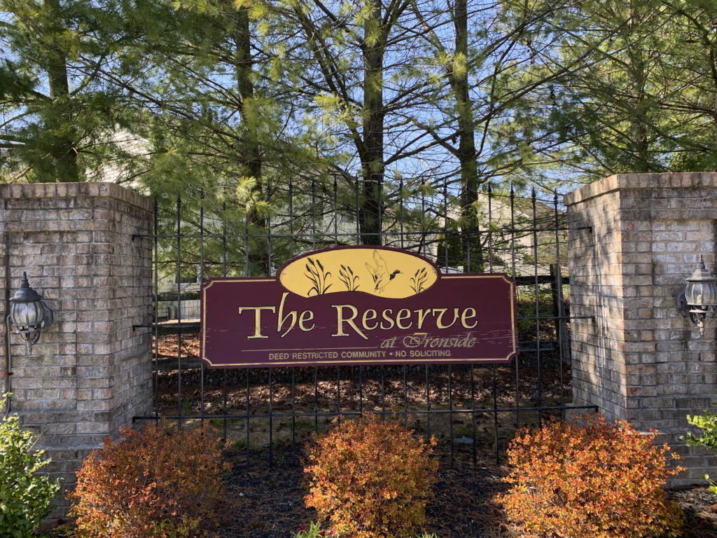 The Reserve at Ironside Entry Sign