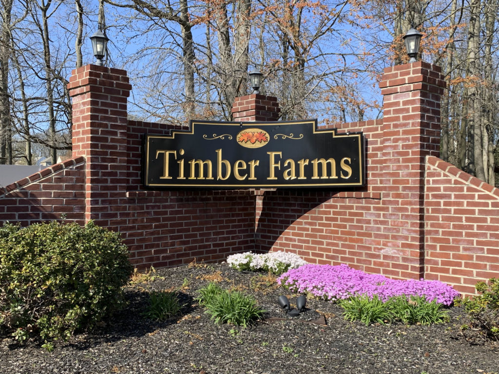Timber Farms Entry Sign