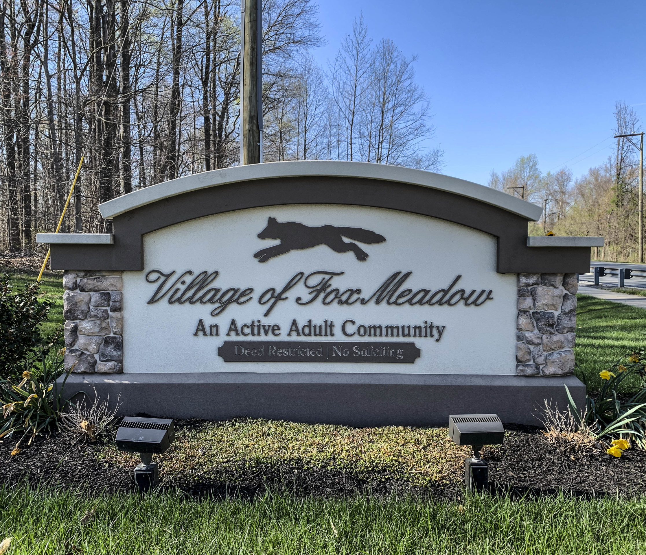 Village of Fox Meadow Entry Sign