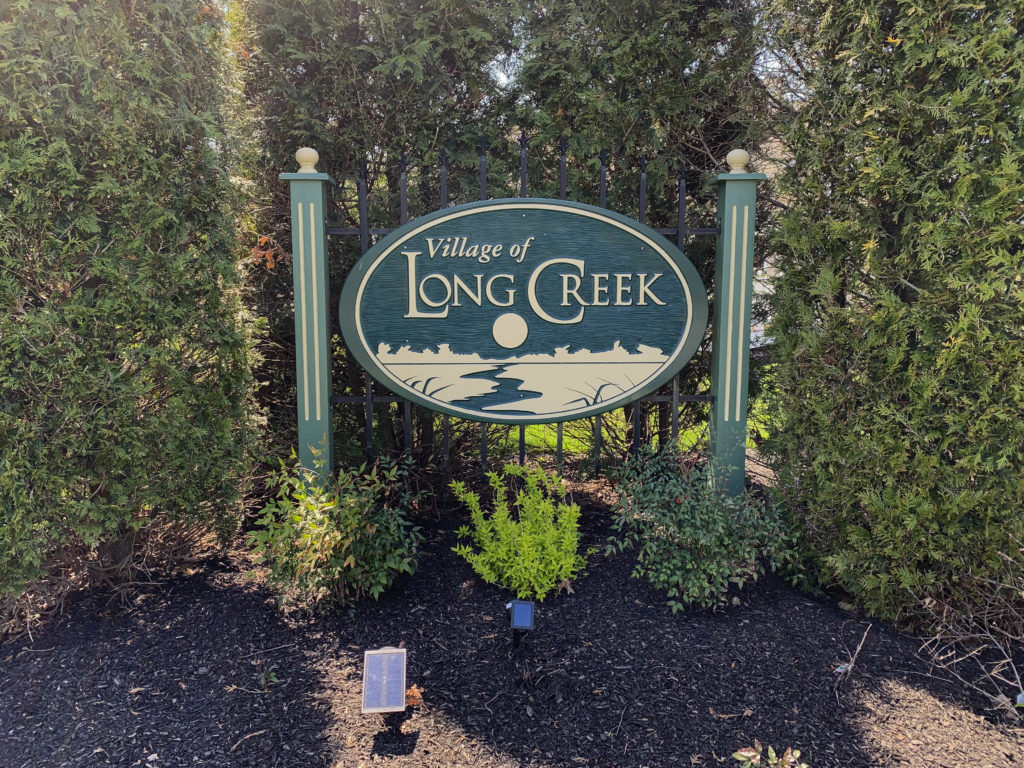 Village of Long Creek Entry Sign