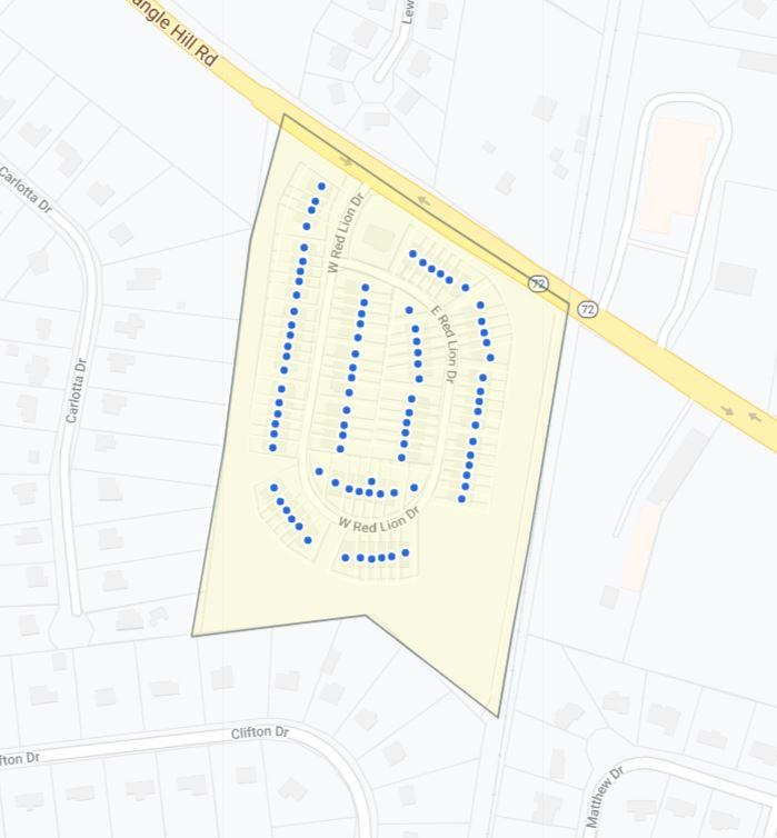 Village of Red Lion Creek Map