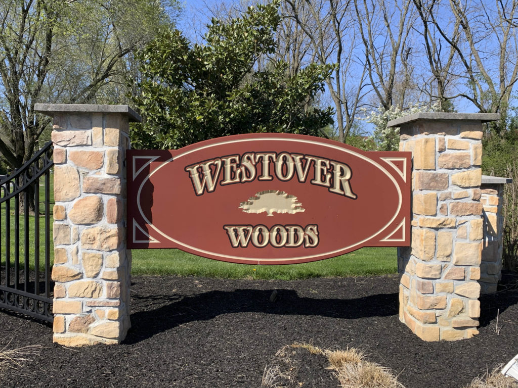 Westover Woods Entry Sign