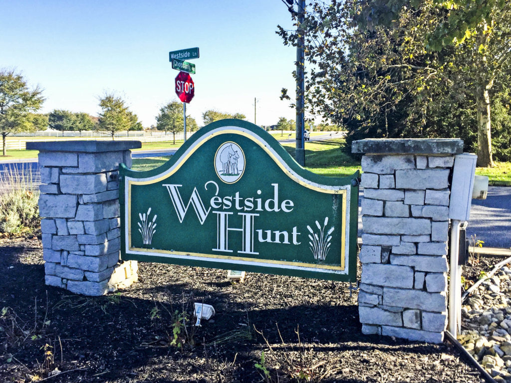 Westside Hunt Entry Sign