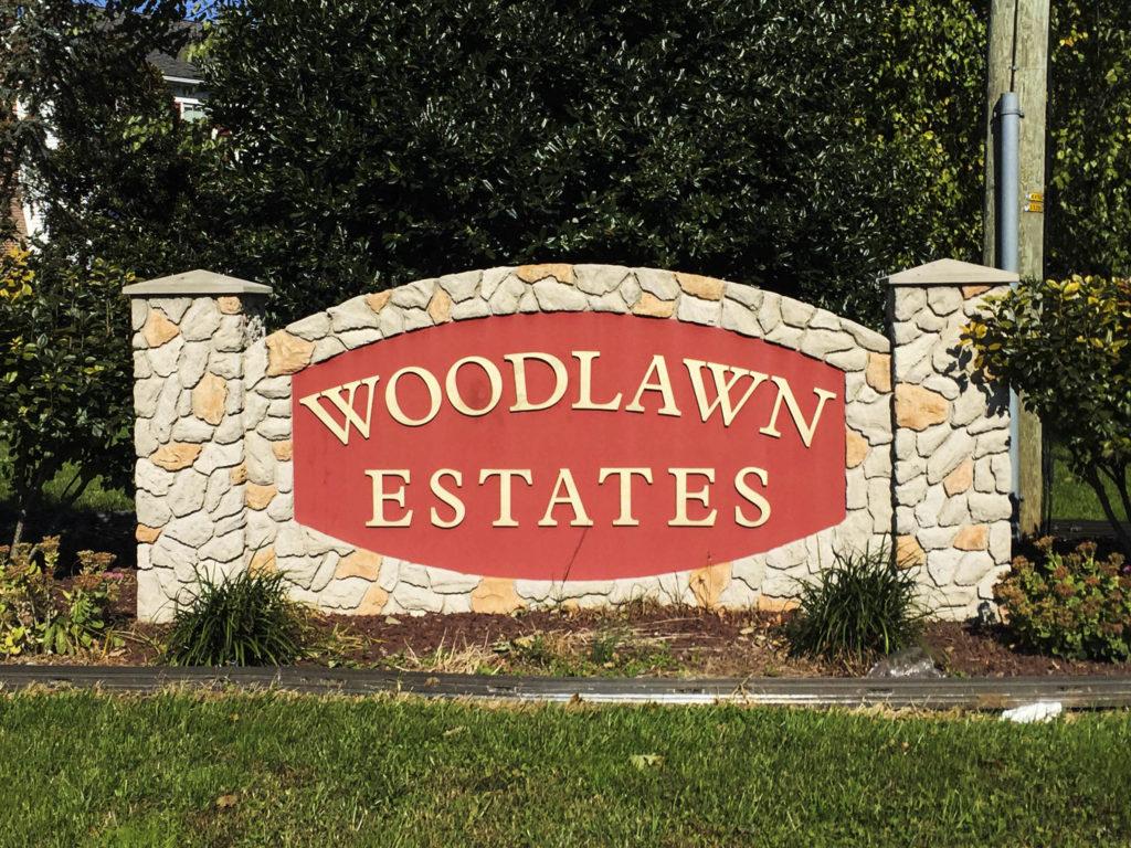 Woodlawn Estates Entry Sign